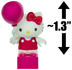 hello kitty balloon mini-figure world mega