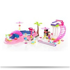 Mega Bloks Barbie Build N Style Pool